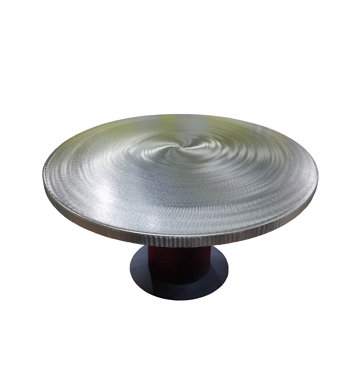 Recycled Steel Round Dining Table By Oios Metals Divano